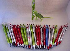 Misprint Pens Clip On Retractable Lightweight STYLUS METALLIC COLORFUL LOT of 25