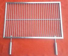 Grillrost Edelstahl 60 x 40cm abnehmbarer Griffe V2A Profi Qualitä