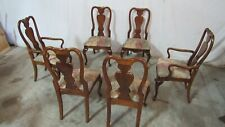 Set American Drew Cherry Dining Room Chairs Queen Anne