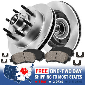 For 2WD CHEVY GMC C2500 C3500 EXPRESS SUBURBAN SAVANA Front Rotors Ceramic Pads