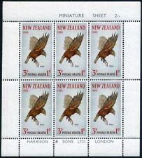 New Zealand B69a-B70a,hinged.Mi 442-443klb. Birds 1965.Kaka,Fantail-Piwakawaka.