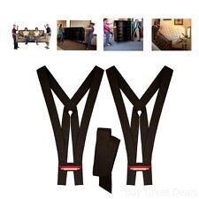 Lifting Moving Strap Transport Belt Wrist Strap King Sized Furniture Mover Black