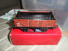 HORNBY Vintage TinPlate 0 Gauge LMS Wagon with Sheet Rail Boxed, GOOD CONDITION!