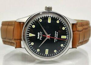 genuine hmt pilot hand winding men's steel vintage India made wrist watch
