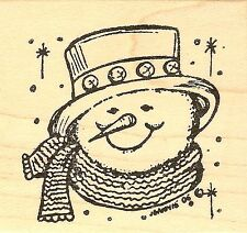 Snowman Face C, Wood Mounted Rubber Stamp NORTHWOODS - NEW, CC7666