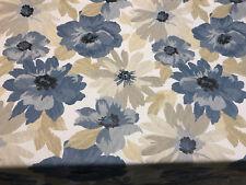 Robert Allen Home Kobila Blue Floral Twilight Fabric By The Yard