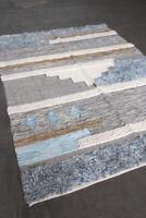 Marken Teppich Indien Blue Multi 170x240cm 40%Baumwolle 40%Wolle modern NEU TP1