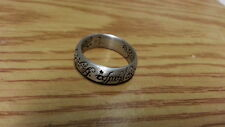 Beautiful Engraved Inscription Solid Band Ring 925 Sterling Silver *Size 9*F825