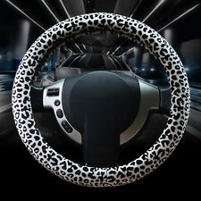 Hot Sales Leopard Steering Wheel Cover Winter Classic Models Plush Gear Brake