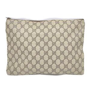 Gucci Clutch GG Browns PVC 632845