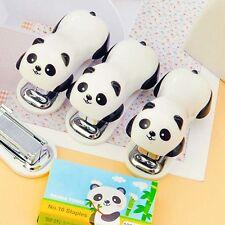 Mini Agrafeuse Panda Accueil Document Papier Bureau Étudiant École Mignon Cadeau