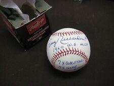 NY YANKEE LEGEND BOBBY RICHARDSON AUTOGRAPH INSCIBED MLB BASEBALL W/COA