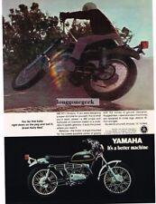 1970 Yamaha 350 RT-1 Endura Motorcycle Vtg Print Ad