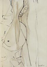 """G. FROSINI China e Acquerello su Carta """"Nudo"""" cm 50x70 anno 1977 - quelli che..."""