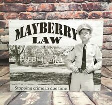 Mayberry Law - Barney Fife - Metal Sign for Man Cave, Garage, or Bar