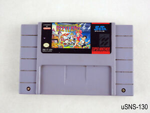 Cacoma Knight in Bizyland Super Nintendo US Authentic SNES Cart Only Tested Fair