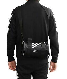 Adidas Unisex MINI Nylon Duffel Bags Black Run Casual Cross Bag GYM Sacks GD1646