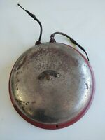 Antique Estate Firefighter Fire alarm Bell Large nickel The Ideal Co