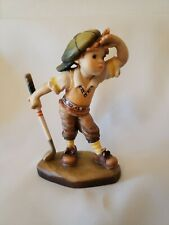 """Anri 4"""" """"Fore"""" Boy Playing Golf #317/2000 Sands *New* Retired Rare Woodcarving"""