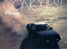 1985 1/2 Chrysler Conquest Turbo Intercooler Sales Flyer Brochure