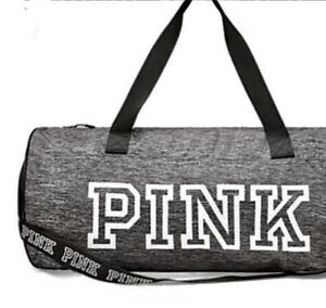 NWOT Victoria's Secret Pink Duffle, Travel, Gym Bag-Weekender LogoPINK Gray