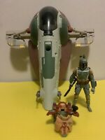 "Star Wars 11"" Slave I With 3.75"" Armore Boba Fett By Hasbro B4262 No Box"