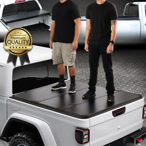 FOR 20-21 JEEP GLADIATOR JT PICKUP TRUCK BED HARD SOLID TRI-FOLD TONNEAU COVER