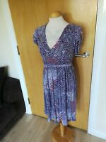 Ladies JOE BROWNS Dress Size 12 Lilac Stretch Jersey Smart Casual Day Party