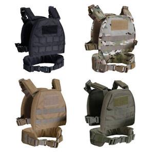 Tactical Military Molle Plate Carrier Combat Vest + Patrol Belt Child Clothes