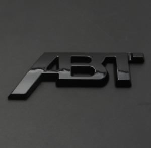 ABT Logo Emblem Sticker Boot Trunk Rear Badge Black RS4 RS5 SQ8 A8L S6 A4 Q5