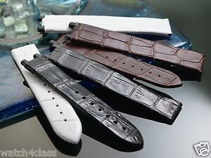 Genuine Leather Band Strap bracelet (FITS) LADYMATIC OMEGA 16mm BLK,BRN,WHT,