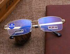 Retro Vintage Gold Metal Half Rimless Square Frame Reading Glasses Readers~+4.00
