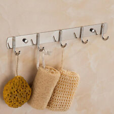 Clothes Towel Robe Holder Rack Kitchen Wall Stainless Steel Mounted Hanger Hooks