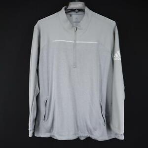 Mens Adidas Golf Gray Pullover Sweat Golf Shirt Size 2XL XXL 1/4 Zip Jacket