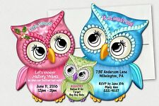 Owl Baby Shower Invitations, Owl Birthday Invitation, Boy, Girl Invitation
