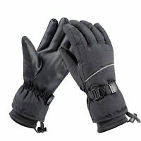 Men/'s Leather /& Mesh Fingerless Gloves Reflective Piping **MG7504** Gel Palm