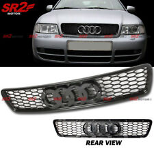 JDM ABS Front Hood Black RS4 Style Mesh Grill Grille for 96-01 Audi A4 S4 B5
