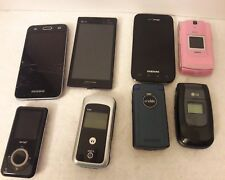 Lot of 6 Cell Phones & 1 Sanyo Sandisk, 1 Motorola 2.0 MP3 Cellphone.PartsRepair