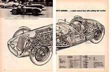 1957 OFFY-BANDINI ~  NICE ORIGINAL 2-PAGE CUT-A-WAY