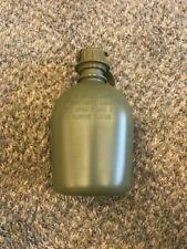US Military 1 Quart QT Hard Plastic Canteen OD Green Rigid 1qt