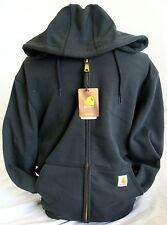 Carhartt K122 Fleece Hooded Zip Front Sweatshirt - Black - 3XL - REG