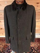 New listing Vtg E F Timme Tuft Alpaca Men's Charcoal Gray Herringbone Mens Overcoat Sz 40