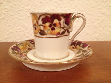 Antique Royal Vienna Cup & Saucer w/ Painted Floral Decoration