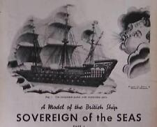 Sovereign of theSeas British Clipper Ship Model 1938 How-To build PLANS