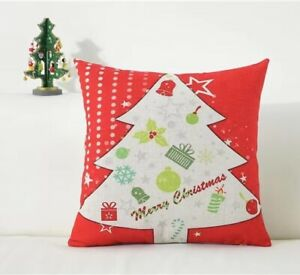 Christmas Pillows Covers Decorative 18x18 Inch Set of 4 Cotton cute