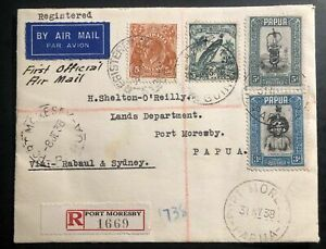 1938 Rabaul Papua New Guinea India First Flight Cover FFC To Port Moresby