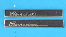 1964 1965 1966 64 65 66 Barracuda Door Panel Nameplate Emblems - EXCELLENT SHAPE