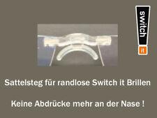 Sattelsteg für jede randlose Switch It Brille, keine Abdrücke mehr. + Ersatzteil