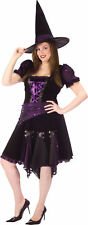 Witch Purple Punk Adult Women's Costume Fancy Dress Funworld Plus Size