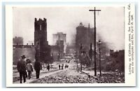 Postcard California St, San Francisco CA earthquake fire 1906 G11